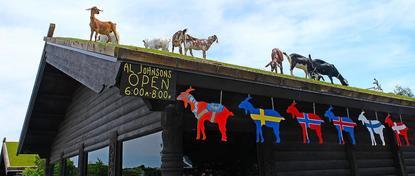 Al Johnson's Swedish Restaurant located in Sister Bay, Door County, WI