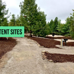 Newly constructed tent sites