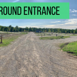 The campground entrance when entering Dovetail Acres