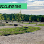 The pet-free side of the campground