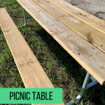 Picnic table found at every camp site
